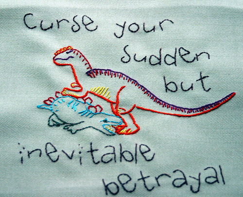 Curse your sudden but inevitable betrayal - Hoban Washburne, Firefly embroidery by TiLT Creations (via ache)