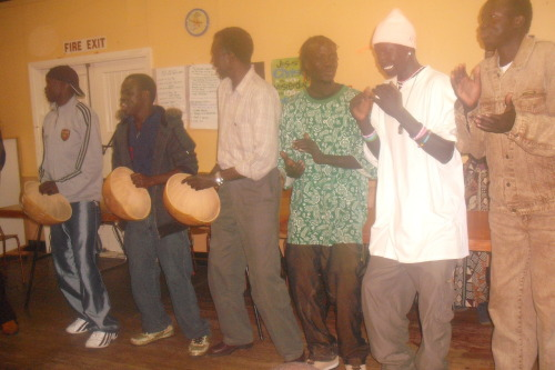 This is a Sudanese cultural group dancers.
