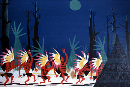 Gosh, how great is the work of Mary Blair? Her color design was ground-breaking. It just pulls you in. This is concept art for Disney's original Peter Pan.