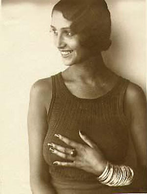 Jacques-Henri Lartigue~ Renee Perle, Half-Portrait in Sleeveless Top 1930-1932  Luminous-Lint