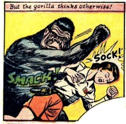 vintagecoolillustrated:  The Gorilla Thinks Otherwise!(via comicallyvintage)