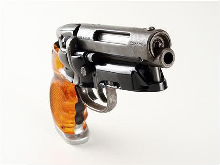 "theoriginaljoefisher:  This is how I imagine Kate's Gun.  If I had the extra 150K for this ""Holy Grail"" of sci-fi weapons, I'd drop it in a heartbeat. My Saturday-night special will have to do for now, in lieu of Harrison Ford's blaster."