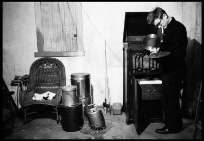 vinylfiend:James Dean listening to records on his family farm in Fairmount, Indiana.