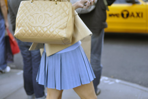 tenderbuttons: on the streets: chanel beige caviar leather shopper tote.  that's right (via william yan).