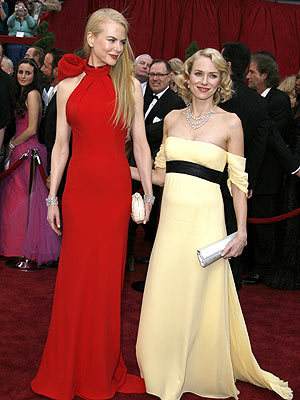 Naomi Watts with her bff, Nicole Kidman