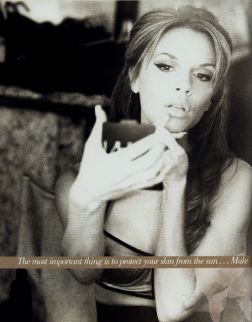 Victoria Beckham in her book 'That Extra Half an Inch', 2006