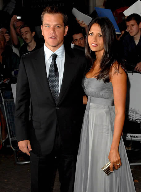 Matt Damon and his equally hot wife, Luciana