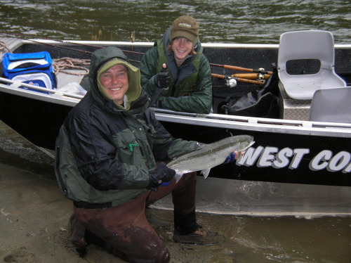Some great photos of happy clients after a day with Nick @ West Coast River Charters.