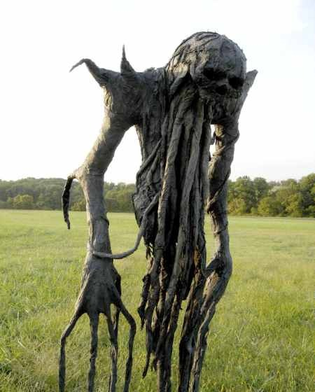 That's freaky. urlesque:  Some scarecrows that are *actually* scary…kind of.