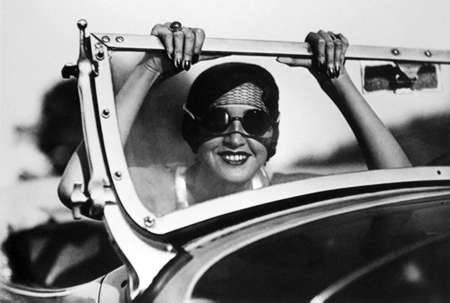 Jacques    Henri Lartigue ~ Renee    - Paris to Aix-les-Bains, 1931