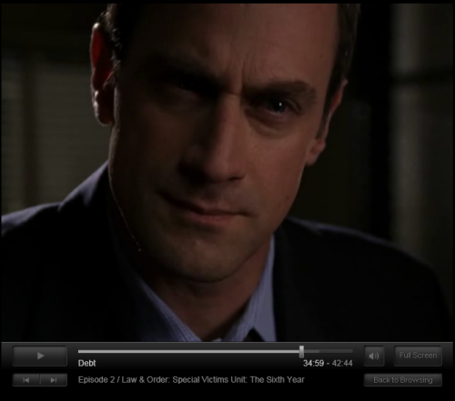 Christopher Meloni Super Close-Up Part 8: C-Meloni thinks it's pretty bullshit that this Asian guy is selling little Asian girls to other Asians. (Christopher Meloni Super Close-Up Parts 1 - 7 here.)