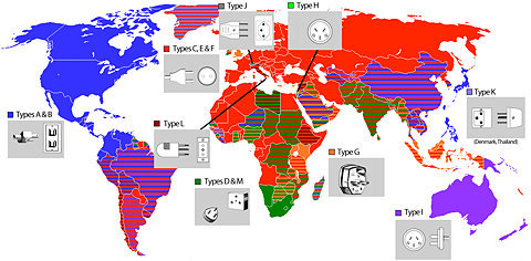 Giz Explains: Why Every Country Has a Different F#$%ing Plug - Worldwide electric plugs - Gizmodo