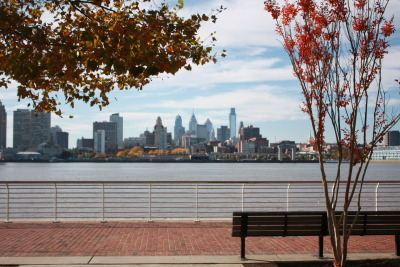 View of Philadelphia from the Camden Waterfront