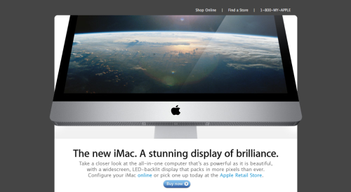 "I keep getting these emails from Apple about the new iMac saying ""Take a closer look"". I've been taking more than a look, I've been obsessing about mounting the new bright and shiny iMac on my very stark wall since it came out. I've decided that the new iMac may be a better choice than a flat screen television.  So I'm making the executive decision of keeping my TV boycott in place and just purchasing this lovely new iMac. You get an entire computer, plus a wireless keyboard and mouse for $1600. Online shopping on a bigger screen? Liz will just love this!"