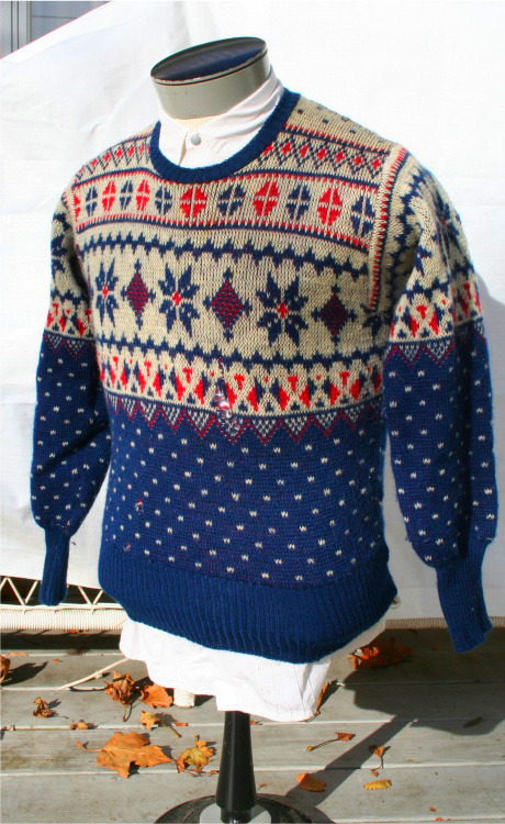 It's On Ebay! Vintage Fair Isle-style sweater by Jantzen, circa 1940s Currently $9.99 with two days left.