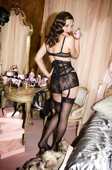 backseam:xemxija:   bohemea:  Maggie Gyllenhaal for Agent Provocateur by Alice Hawkins