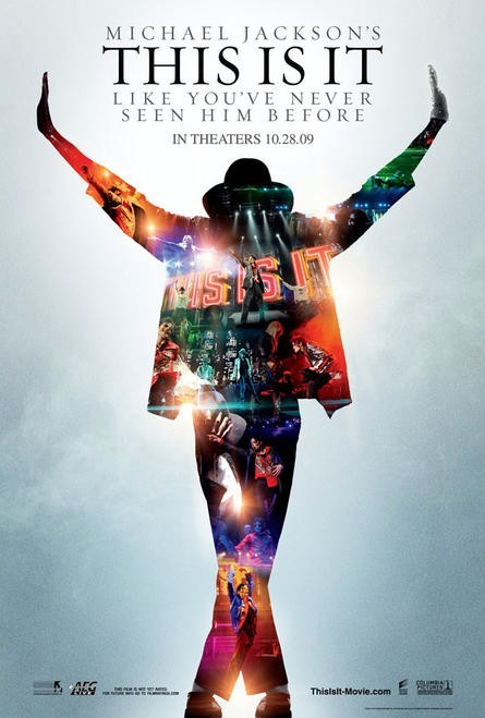 I was finally able to watch This Is It with siblings and cousins this afternoon (and got cute miniature posters). It was amazing. It was great to watch him rehearse for his final concert and actually seeing him live his last days on earth. It was fun watching him do his famous hip thrusts, crotch grab, twirls, and skittering ankle twists moves over and over again. I got so inspired after seeing the movie. At age 50, he outdoes his backup dancers who look physically fit and appear to be only half his age. I had so many chills throughout the movie. I'm a huge sucker for his songs. He was a great loss. He is such a powerhouse, an amazing performer and he continues to live and inspire people through his songs.