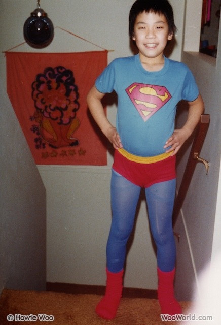 When I was a young boy, I fought for truth, justice, and the red underwear way. Happy Halloween!