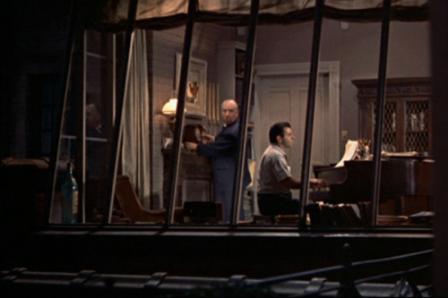 Hitch's cameo in Rear Window