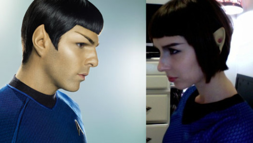 "Infinite Diversity in Infinite Combinations The ""Spock"" costume, which works quite well with my new haircut, was the only available costume at Toys R Us. Side note: I like spandex fit for young boys. Happy Halloween, me hearties!!"