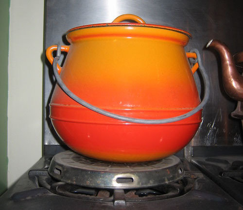 Recipe #11: Boeuf Bourguignon The covered, enameled cast-iron pot that sits on Julia's stove was ideal for the long simmer in the oven required for this stew. Julia made Boeuf Bourguignon on the very first episode of The French Chef, which aired on WGBH (Boston) on February 11, 1963. This week's contributor is Joe Criste, an exhibits specialist who headed-up the team that dismantled Julia's Cambridge kitchen and reassembled it at the National Museum of American History. It took Joe and two other chefs three days to make boeuf bourguignon…was it worth it? READ THE FULL POST ON OUR BLOG for recipe sourcesSUBMIT YOUR PHOTOS AND STORIES—Posted by the National Museum of American History