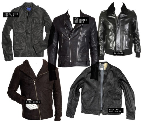 I love the asymmetrical Rick Owens men's leather jacket. (via)
