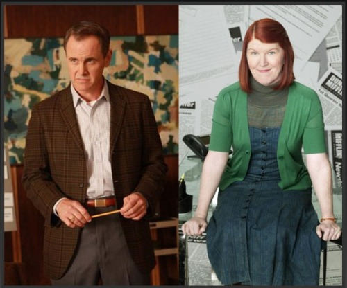 BuzzSugar | Mad Men Characters Compared With The Office Characters This is so perfect that I can't believe it hasn't been done before (and I'm, honestly, a little jealous I didn't think of it myself). My favorite: Duck Phillips = Meredith Palmer  As the characters who manage to creep you out despite mostly harmless exteriors, Meredith and Duck share a penchant for turtlenecks, booze, and hitting on younger, vulnerable peers.