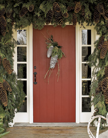 gardenofsimple:  The pinecones? Eh. The door? :swoon: