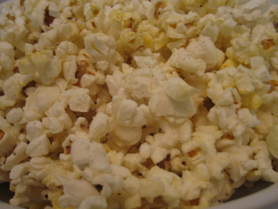 Although Newman's Own microwave popcorn is perfectly delicious sans accoutrement, there are times when I like to spice things up, and a bit of fresh ground pepper and sea salt does the trick.