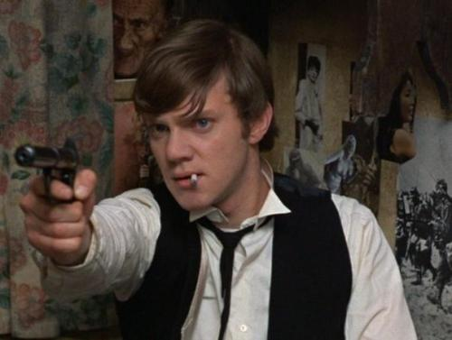 "Malcolm McDowell in If… (1968, dir. Lindsay Anderson) ""One man can change the world with a bullet in the right place."""