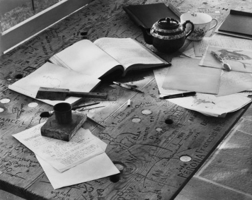 printedandbound:  Antoine de Saint-Exupery's desk on which he wrote The Little Prince. [Corbis]