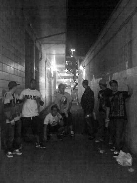 me and the homies at fitted alley. highschool dayzz