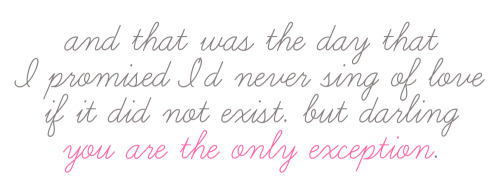 wordgraphics:  The Only Exception - ParamoreRequest for cristinaxP