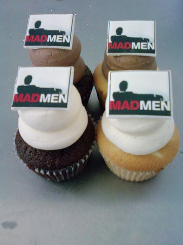 boston and harvard square cupcake bakery sweet is serving up these mad men cupcakes to celebrate tomorrow night's season finale!