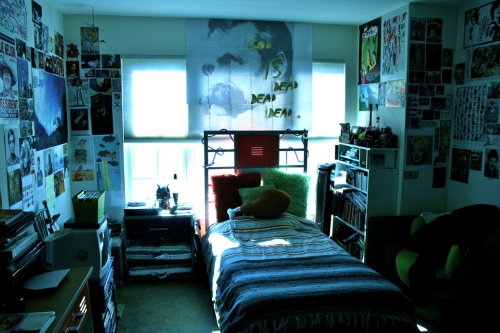 I love the posters and the pictures on the wall. :)