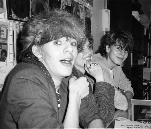 Someone asked about John Taylor ( Duran Duran) photos. Here he is with Nick Rhodes in 1982 at a recording signing party at Tower Records on the Sunset Strip. I think I was one of the few photographers who turned up for this event. Do they still do record signing parties these days?