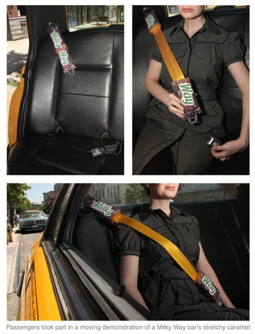 fuckyeahads:  Milky Way seatbelts!