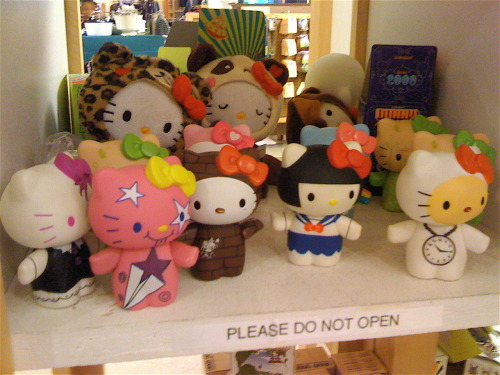 hello-kitty: HK collectibles from Urban Outfitters with Hello Kitty in different costumes - Submitted by angelplamo