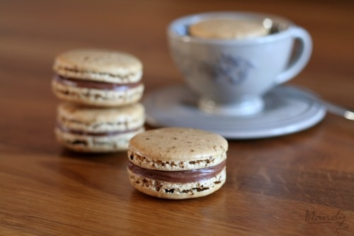 justbesplendid:  Coffee with Milk Choc Ganache Macarons