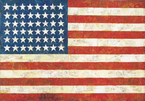 Jasper Johns.  Flag, 1954. via plaidnet.greenwichacademy.org