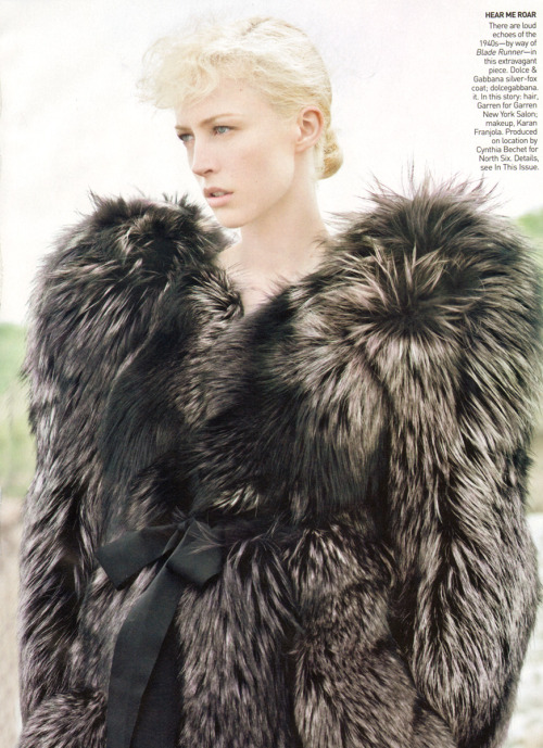 US Vogue October 2009 The Barbarian Invasions by David Sims  credits: sister-d at bwgreyscale