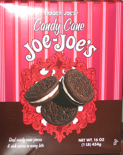 Candy Cane Joe Joe's ARE BACK!!! We spotted them at a SF Trader Joe's! Hurry and get some before I eat them all. Because I'll do it. I WILL JUST DARE ME. Now. LET US DO THIS. Also, this. And maybe this too.