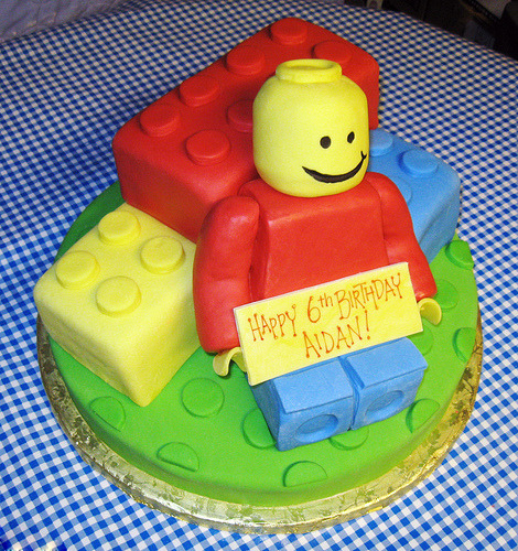 LEGO Birthday Cake (via Krazy Kake Bakers) LEGO Express is a week old today!