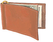 It's On Sale! J. Peterman leather money clip.  Looks lovely.  It's important that your wallet not ruin the lines of your clothes. $38 from $85 from J. Peterman