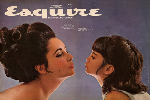 Elizabeth Taylor and daughter Liza on the cover of Esquire Magazine Nov. 1964