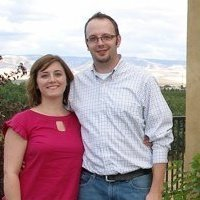 My wife and I in Walla Walla wine country