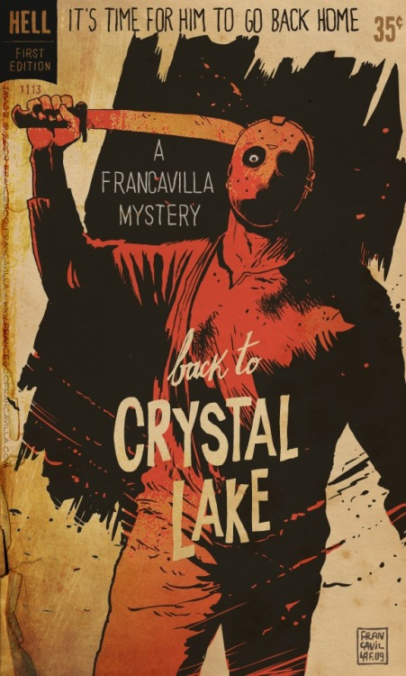 thesweetestpsychopath:  trixietreats:  Pulp Sunday: Back to Crystal Lake