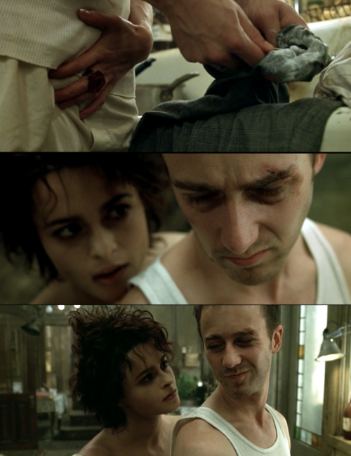 movieoftheday:  Marla: I got this dress at a thrift store for $1.Jack: It was worth every penny.Marla: It's a bridesmaid's dress. Someone loved it intensely for one day. Then tossed it, like a Christmas tree. So special. Then bam! It's on the side of the road. Tinsel still clinging to it. Like a sex crime victim. Underwear inside out. Bound with electrical tape.Jack: Well then, it suits you.