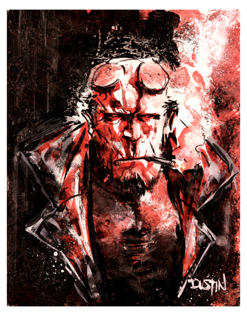 Hellboy - dirty as hell by Dustin Nguyen