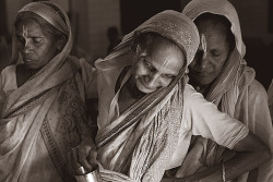 """Nothing to Go Back To"" – The Fate of the Widows of Vrindavan, IndiaIn many conservative Indian Hindu families, widows are shunned because they're seen as bringing bad luck. Superstitious relatives even blame them for their husband's death. The widow can become a liability with no social standing, an unwanted mouth to feed. Often they're cast out of the family home… once the widows of the Hindu holy city of Vrindavan lose their husbands their life becomes zero. (via women news network)"